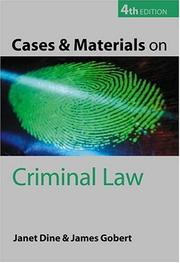Cover of: Cases and materials on criminal law