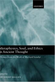 Cover of: Metaphysics, Soul, and Ethics in Ancient Thought