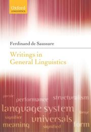 Cover of: Writings in General Linguistics