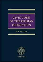 Cover of: Civil Code of the Russian Federation