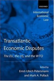 Cover of: Transatlantic Economic Disputes |