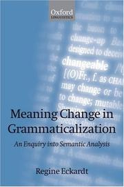 Meaning change in grammaticalization by Regine Eckardt