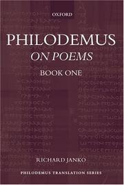 Cover of: Philodemus