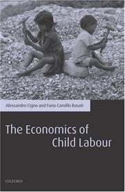 Cover of: ECONOMICS OF CHILD LABOUR | ALESSANDRO CIGNO