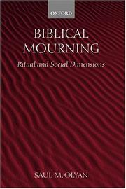 Cover of: Biblical mourning