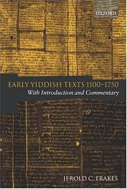 Cover of: Early Yiddish Texts 1100-1750