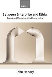 Cover of: Between Enterprise and Ethics