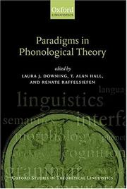 Cover of: Paradigms in phonological theory |