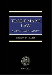 Cover of: Trade mark law | Jeremy Phillips