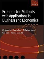 Cover of: Econometric methods with applications in business and economics |