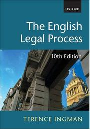 Cover of: The English legal process