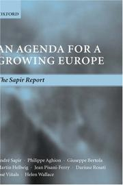 Cover of: An agenda for a growing Europe |