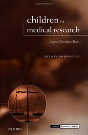 Cover of: Children in medical research