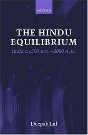 Cover of: The Hindu equilibrium | Deepak Lal
