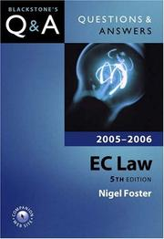 Cover of: Questions and Answers EC Law 2005-2006 (Blackstone