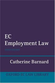 Cover of: EC Employment Law (Oxford European Community Law Series)