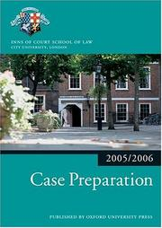 Cover of: Case preparation. |
