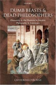 Cover of: Dumb Beasts and Dead Philosophers | Catherine Osborne