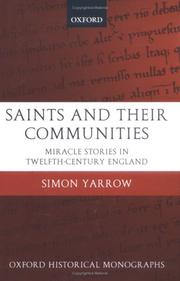 Cover of: Saints and their communities | Simon Yarrow
