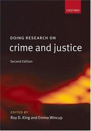 Cover of: Doing Research on Crime and Justice |