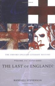 Cover of: The Oxford English Literary History: Volume 12: 1960-2000