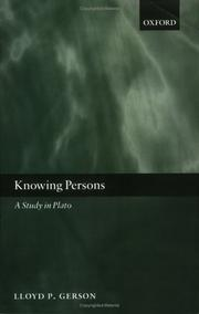 Cover of: Knowing Persons | Lloyd P. Gerson