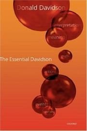 Cover of: The essential Davidson