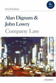 Cover of: Company Law (Core Texts Series) | John Lowry, Alan Dignam
