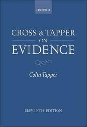 Cross and Tapper on evidence by Colin Tapper