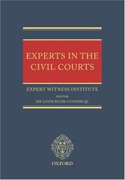 Cover of: Experts in the Civil Courts | Expert Witness Institute