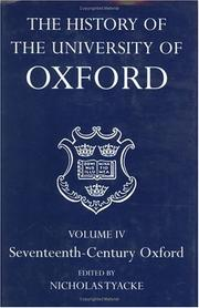 Cover of: The History of the University of Oxford: Volume IV