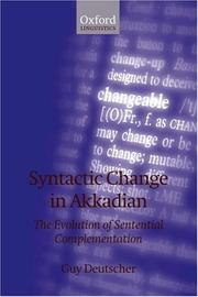 Cover of: Syntactic Change in Akkadian | Guy Deutscher