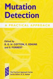 Cover of: Mutation detection |