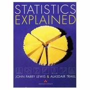 Cover of: Statistics explained | J. Parry Lewis
