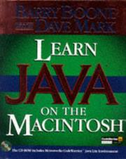 Cover of: Learn Java on the Macintosh | Barry Boone