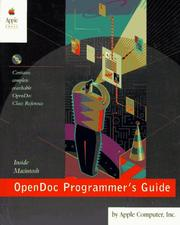 Cover of: OpenDoc programmer's guide for the Mac OS