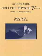 Cover of: Study Guide to Accompany College Physics