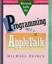Cover of: Programming with AppleTalk