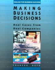 Cover of: Making business decisions | Frances Armstrong Boyd