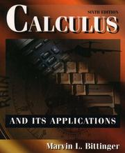 Cover of: Calculus: a modeling approach