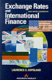 Cover of: Exchange rates and international finance | Laurence S. Copeland