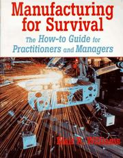 Cover of: Manufacturing for survival