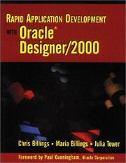 Cover of: Rapid application development with Oracle Designer/2000