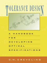 Cover of: Tolerance Design | Clyde M. Creveling