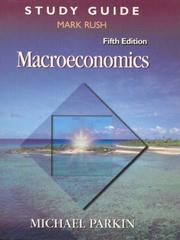 Cover of: Macroeconomics (Study Guide) | Parkin, Michael