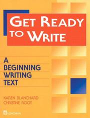 Cover of: Get Ready to Write: A Beginning Writing Text