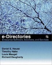 Cover of: e-Directories | Daniel House, Tim Hahn, Louis Mauget
