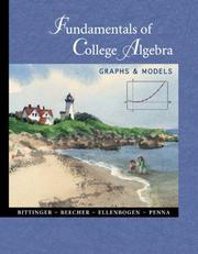 Cover of: Fundamentals of College Algebra