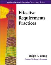 Cover of: Effective Requirements Practices