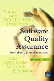 Cover of: Software quality assurance